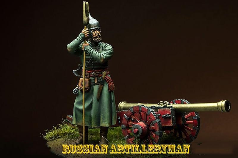New Unassembled 1 24 75MM ancient Russian Artileryman 75MM Resin Figure Unpainted Model Kit