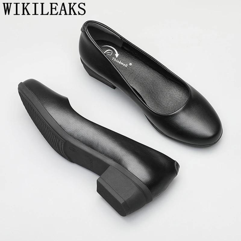 Low Heel Shoes Women Office Shoes Black High Heels Formal Shoes Women Comfortable Ladies Pumps Thick Heels Big Size Buty Damskie Women S Pumps Aliexpress