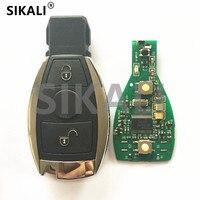 2 Botones Inteligente Clave Remoto Inteligente 315 MHz 433.92 MHz para Mercedes BENZ Año 2000 + Soporte de Entrada Sin Llave Del Coche NEC y BGA