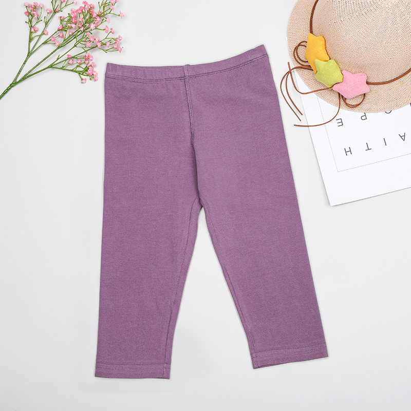 Stretch Leggings Pants Trousers Knitting Toddler Purple Autumn Baby-Girl Color Plus-Size