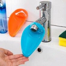 Cute Silica Gel Children Bathroom Water Extender Sink Faucet Chute Extender Kids Kitchen Washing Hands Baby Care Bath Brushes