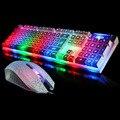 Оригинал 7 Переключаемые Подсветка Gaming Keyboard Gamer Teclado Gaming USB Проводная Мультимедийная Клавиатура Со СВЕТОДИОДНОЙ Подсветкой для Геймеров