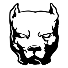 CS-231#19*15 cm 37*30 pitbull funny car sticker and decal silver/black vinyl auto stickers