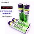 2018 nuevo LiitoKala 18650 batería de 3400 mAh Li-ion de 3,7 V batería recargable PCB protegida