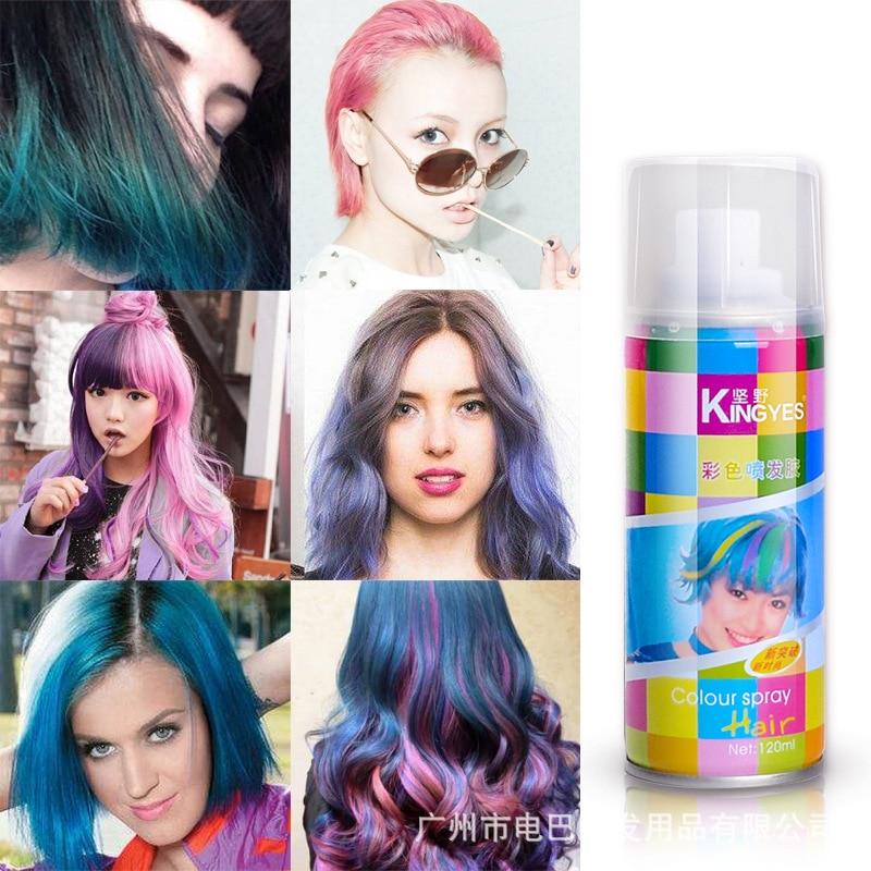 Disposable hair dye spray color dyed hair spray agent ...