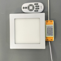LED2 4G Remote Control Color Temperature Led Panel Light 2pcs 12W And 4pcs6w Square Kitchen Toilet