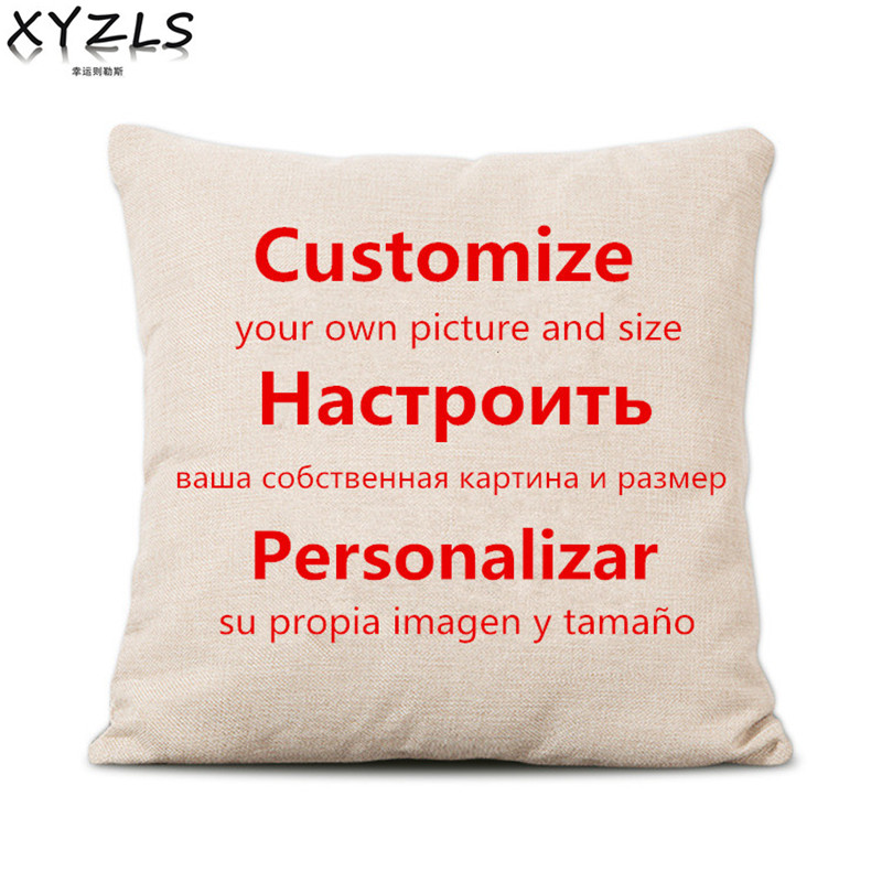 XYZLS Personalized Custom Cotton Linen Cushion Cover Unquie and Fashionable Pillow Case Pillow Covers Stocked Big Sale