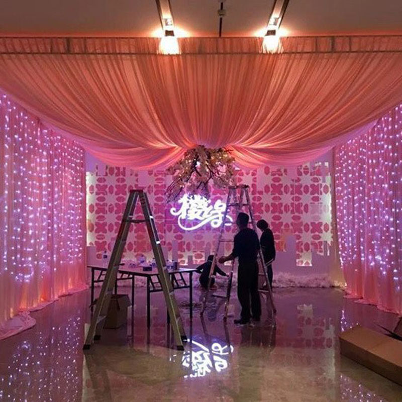 3x1/3x2/3x3m led icicle light curtain fairy string lights for Wedding bedroom door curtain garden Christmas party decoration