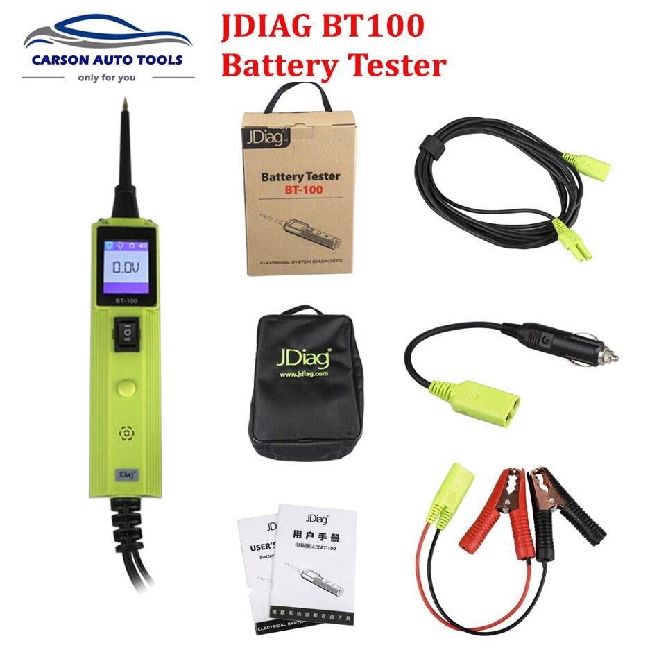 2017 JDiag BT-100 testeur de Circuit de système électrique de batterie BT100 outil de diagnostic automatique mise à jour de PS100 YD208 PT150