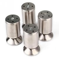 4pcs Pack Stainless Steel Kitchen Adjustable Feet Height Furniture Leg Silver