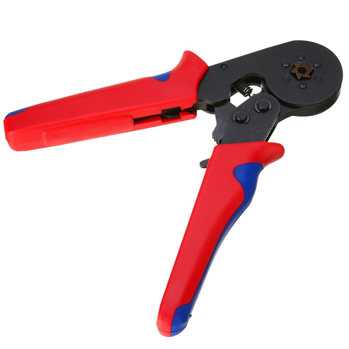 1 Pc Self Adjusting Ratcheting Ferrule Crimper Plier HSC8 6-6 Crimping Tool