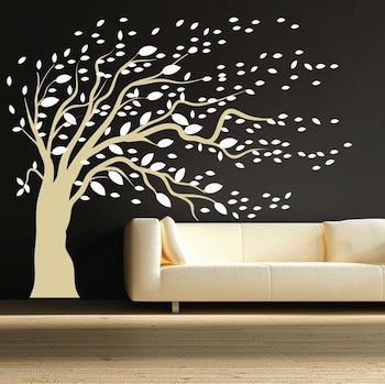 Modishblowing Tree Wall Art Stickers Artistic Design Wall Decals