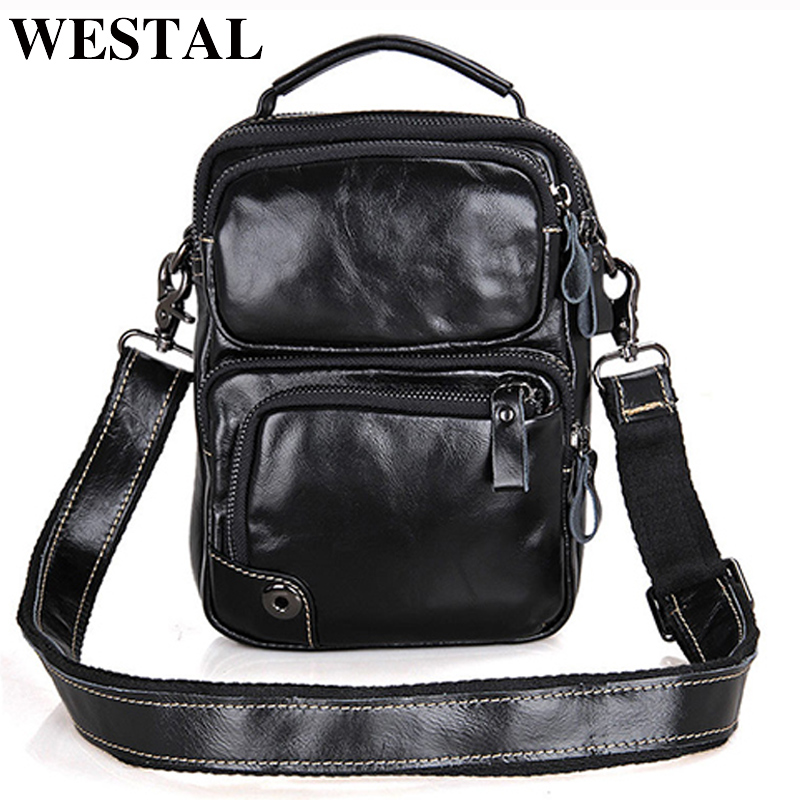 WESTAL Small Mini ipad Shoulder Crossbody Bag Small Genuine Leather Men Bag Men Messenger Bags Brand Leather Handbag Casual New diiwii bag new men casual small genuine leather shoulder bags leather messenger crossbody travel bag handbag