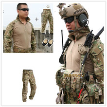 цены Emerson bdu G3 uniform shirt & Pants & knee pads Airsoft Combat Military Army MultiCam Suit CP MC Multi-cam