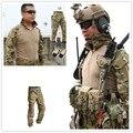 2017NEW Emerson bdu G3 uniforme camiseta y pantalones y la rodilla almohadillas Airsoft combate ejército militar MultiCam traje CP MC Multi-cam