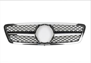 For Mercedes-Benz C-class W203 C200 C230 C240 C320 2000-2006 with Emblem SL Style Front Racing Grille