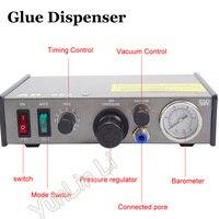220V AD 982 Semi Auto Glue Dispenser PCB Solder Paste Liquid Controller Dropper Fluid Dispense