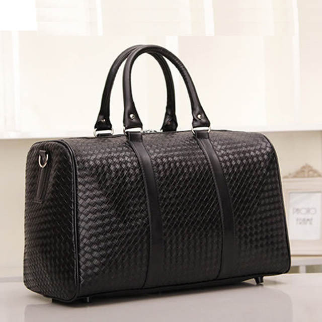 Us 26 99 30 Off New Fashion Luggage Travel Bags Faux Leather Men S Bag Large Duffle Women Weekend Tote Free Shipping In