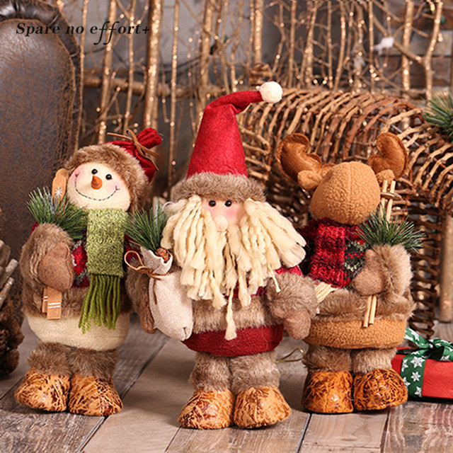 Santa Claus Snowman Elk Dolls Christmas Ornaments Merry Christmas Favor Party Decorations for Home New Year Gift Arvore De Natal