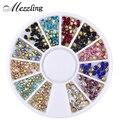 Mezzling mixta glitter nail art ruedas de sharp end crystal rhinestones coloridos perfect diseño decoración de uñas belleza herramientas