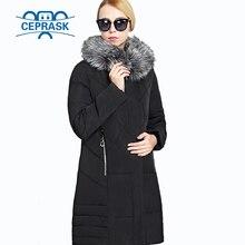 2017 Winter Coat Women Plus Size 6XL Raccoon Fur Hooded Fashion Warm Women's Down Jacket Biological-Down Female Parkas Ceprask