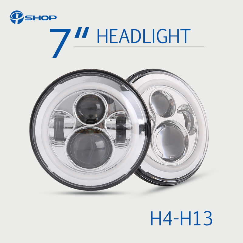 45 W 30 W 7 pouces phare LED ronde avec ange Eye Auto pour les voitures russes Jeep Wrangler Niva Lada 4x4 voiture-style 12 V 24 V