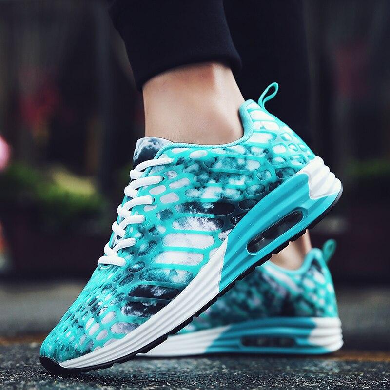 2018 ניו אביב & קיץ סגנונות מודפסים Mens נעלי ריצה לגברים נעלי ספורט נשים לשני המינים כרית אוויר הליכה קל הנעל