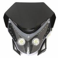 Mayitr 1pc Motorcycle Dirt Bike LED Headlight Street Fighter Sport Custom Fairing Light Or Turn Signal Daytime Running Lamp