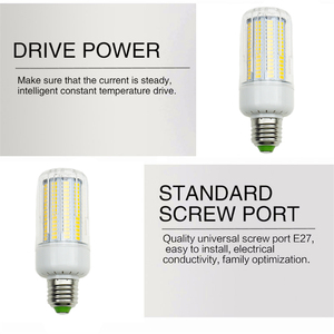 Image 2 - LED Bulb SMD5736 E27 E14 LEDs Lamp Light 50W 40W 30W 25W 15W 12W 7W Incandescent replace 220V Spotlight Corn LED Lights for home