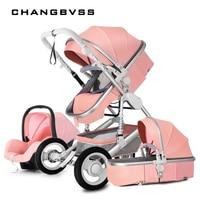 Подвеска Тени легко складывать Детские коляски, легкий Высокая Пейзаж Детские коляски, роскошные коляски, poussette