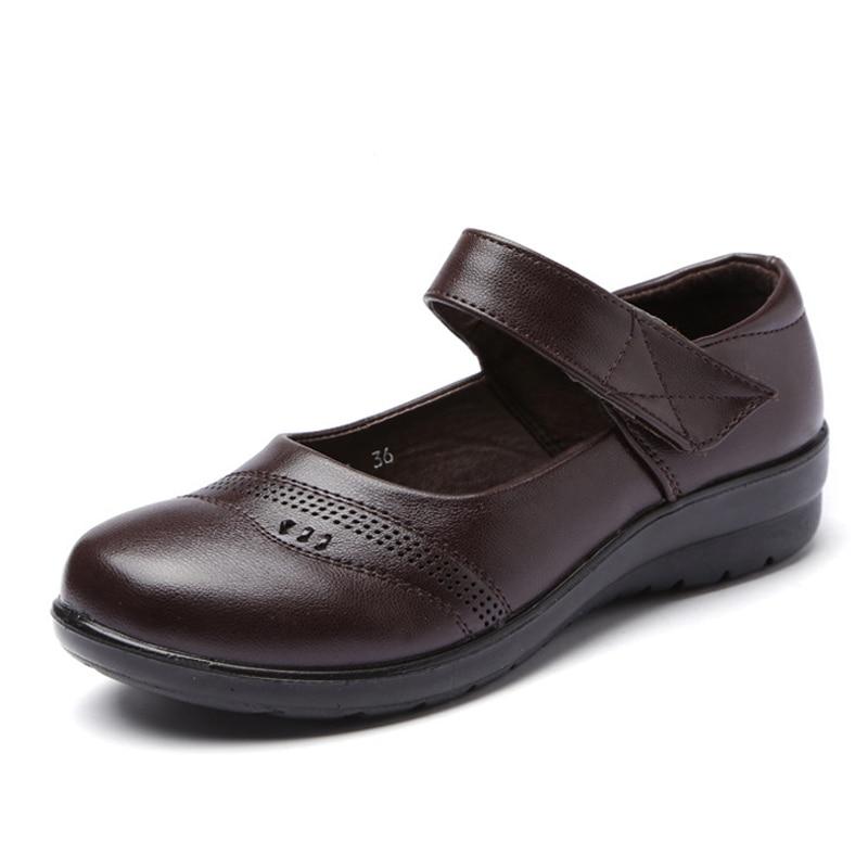 Image 5 - BEYARNENewSpring Autumn Women Flats Shoes Fashion Round Toe Sweet Comfort Faux LeatherWomen MaryJanes  Buckle Strap dropshippingWomens Flats   -