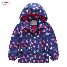 New Children girls jackets European and American style Windproof rainproof kids hooded coats