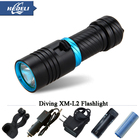 Super bright waterproof LED diving flashlight diver 100 m waterproof XM L2 Waterproof Torch Flashlight Camping Hunt 18650 26650