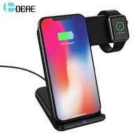 DCAE 10W Qi Wireless Charger For iPhone X 8 XR XS Max Usb Fast Charging Holder For Apple Watch 4 3 2 Dock For Samsung S9 S8 Plus