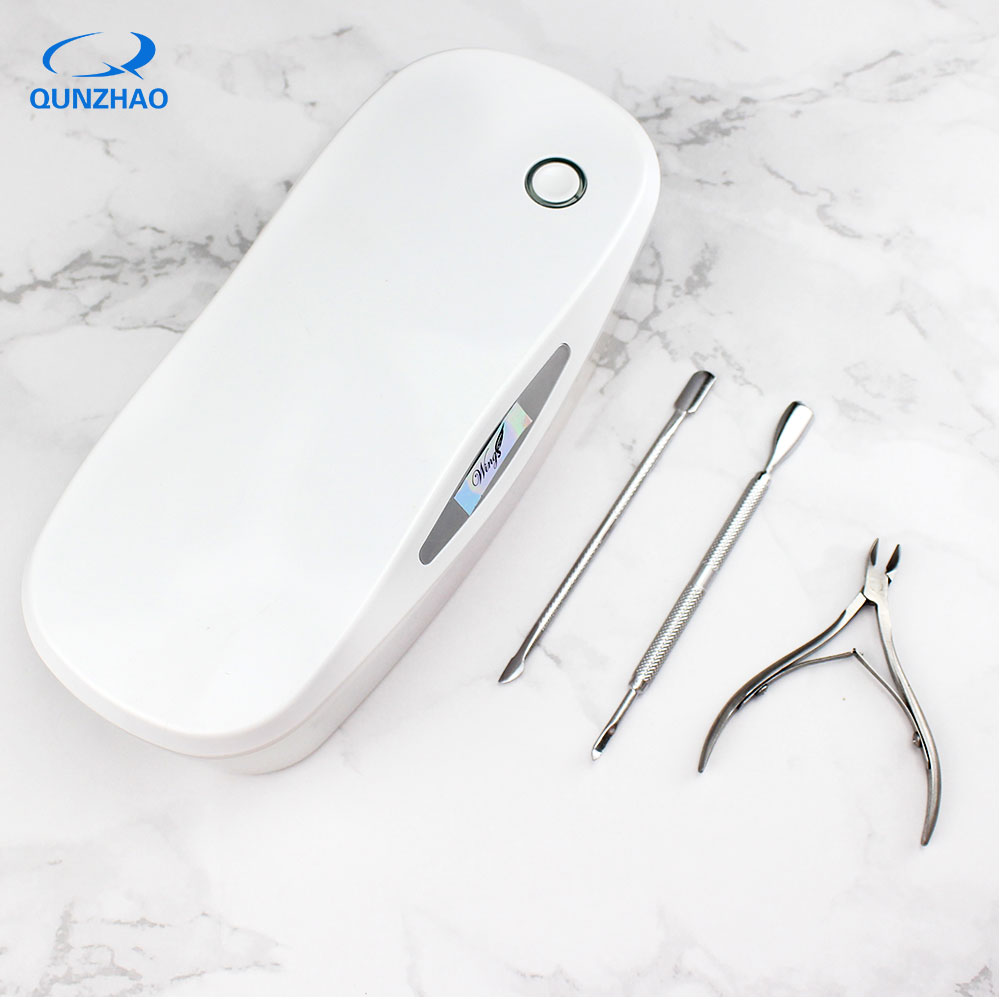 Sterilizer Nail Art Tool For Makeup Brushes Nail Art Equipment For Nails LED UV Disinfection Box Cleaning Device Rechargeable