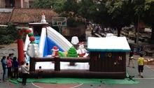trampoline, siert opblaasbare Kerst