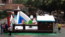 customized inflatable playground toys,Christmas trampoline,Christmas infatable castle and decorates