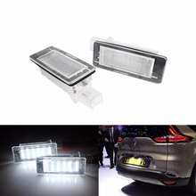 ANGRONG For Dacia Logan Lodgy Duster Canbus LED License Number Plate Light Lamps Xenon White martin logan ml 65aw white