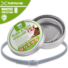 Summer Anti-insect Cat Collar Anti Flea Mosquitoes Ticks Waterproof for Pet 8 Months Protection Cats