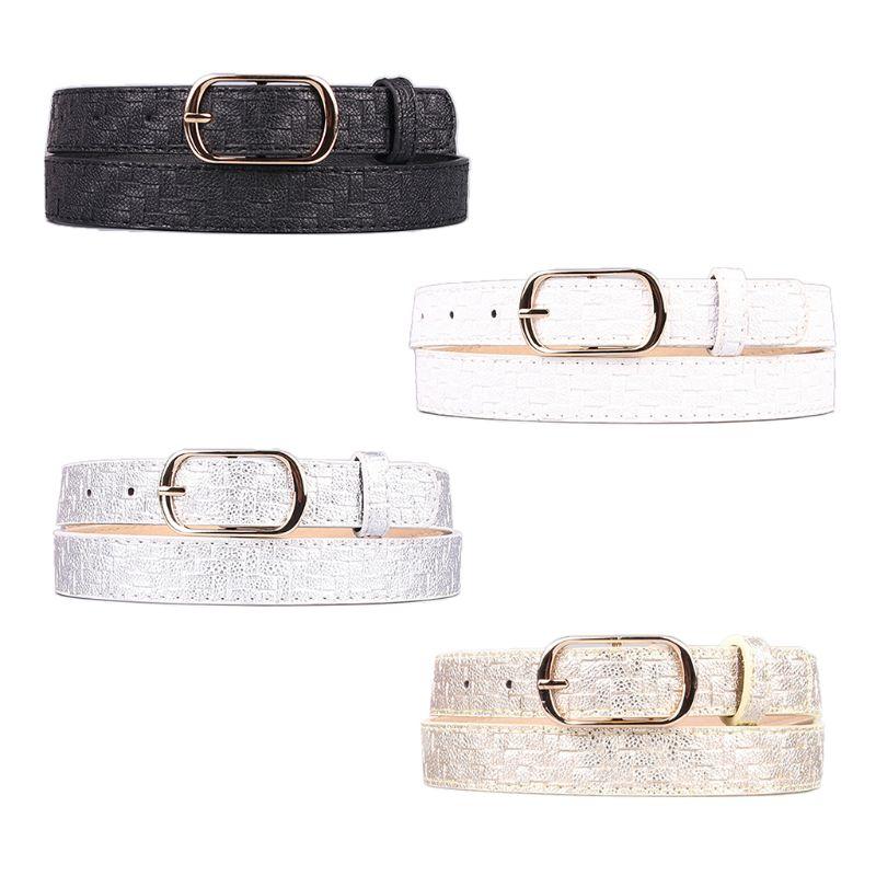 Waistband Waist-Accessories Pattern-Belts Skinny Fashion Women Weave Imitation Exquisite