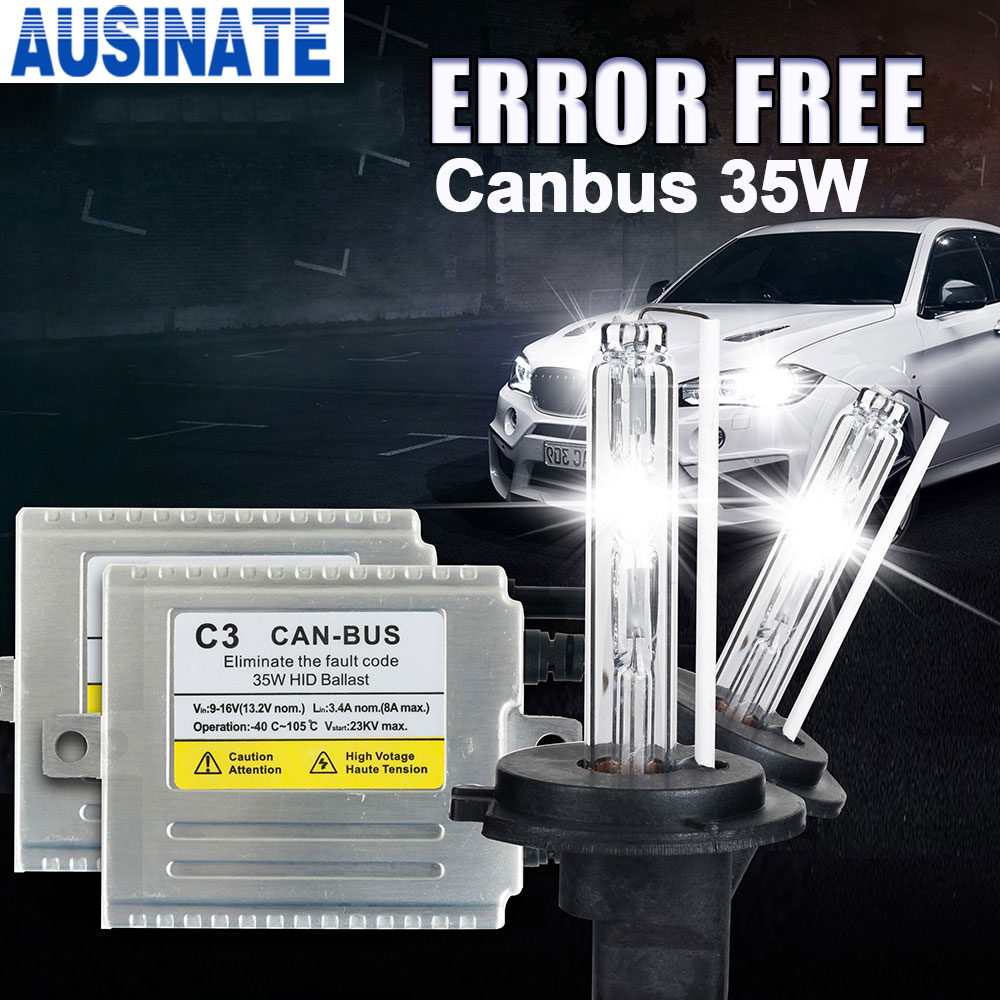 цена на C3 Canbus H7 XENON HID KIT 35W hid lamp H1 H3 H4 H7 H11 9005 9006 881 D2S 35W xenon bulb 4300k 5000K 6000k 8000k kit xenon h4