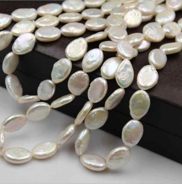 Natural Freshwater Pearl Elliptical Pearl Alien Baroque Flat Elliptical Pearl