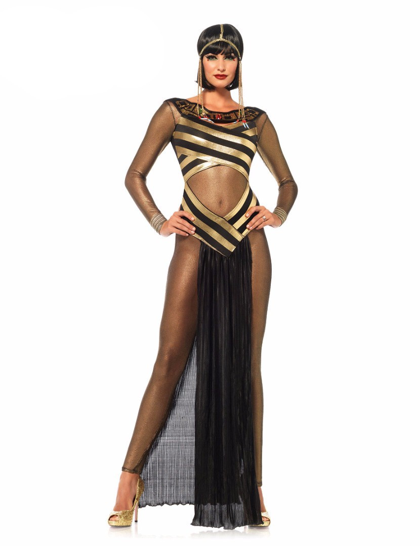 Ladies Egyptian Queen Costume Adults Cleopatra Fancy Dress History Womens Outfit