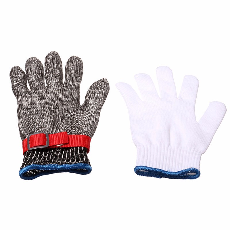 Safety Cut Proof Stab <font><b>Resistant</b></font> Stainless Steel Metal Mesh Butcher <font><b>Glove</b></font> Health And Safety Easy To Clean Durable Quality