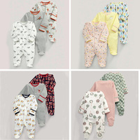 3pieces/Lot Children baby boys girls overall jumpsuit 100% Autumn cotton long sleeved Newborn baby boys rompers