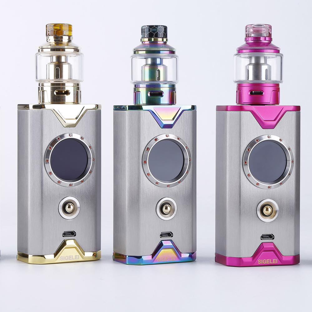 Newest Design Vape kit E electronic Cigarette mod and atomizer from sigelei Shikra Gem Edition kit super power