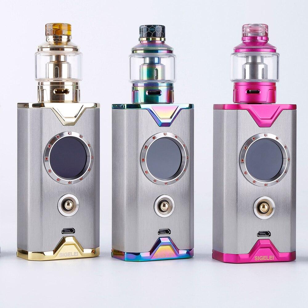 Newest Design Vape Kit E Electronic Cigarette Mod And Atomizer From Sigelei Shikra Gem Edition Kit Super Power