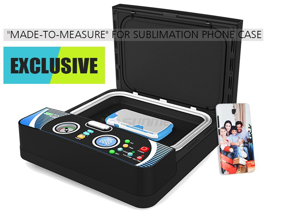 FREE Shipping KIT New Small 3D Sublimation Vaccum Machine Heat Press ST-2030 +3pcs Moulds+15pcs Blank phone cases 1 pcs 38x38cm small heat press machine hp230a