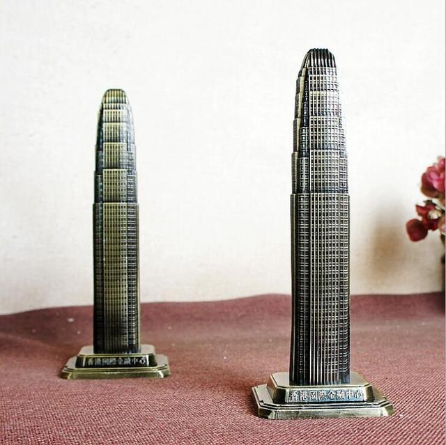 World Architecture Model Hong Kong Financial International Center Decoration Creative Home Decoration Tourism Souvenirs 4
