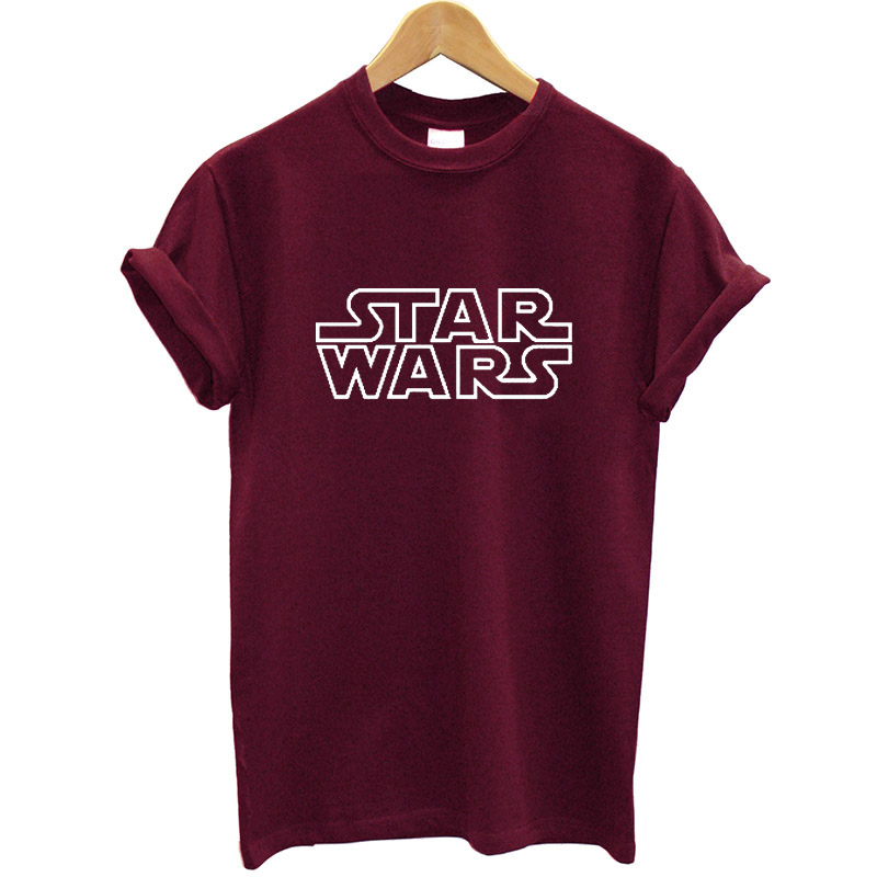 Star War Letter Printed Women T Shirt Cotton Short Sleeve O-neck Funny Women Summer Tshirt Streetwear Loose Fit Clothes